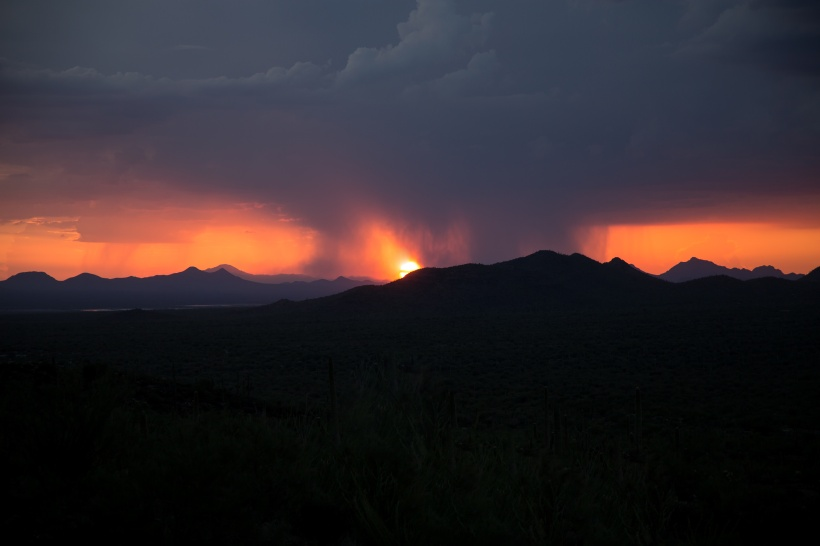 Arizona monsoon sunset