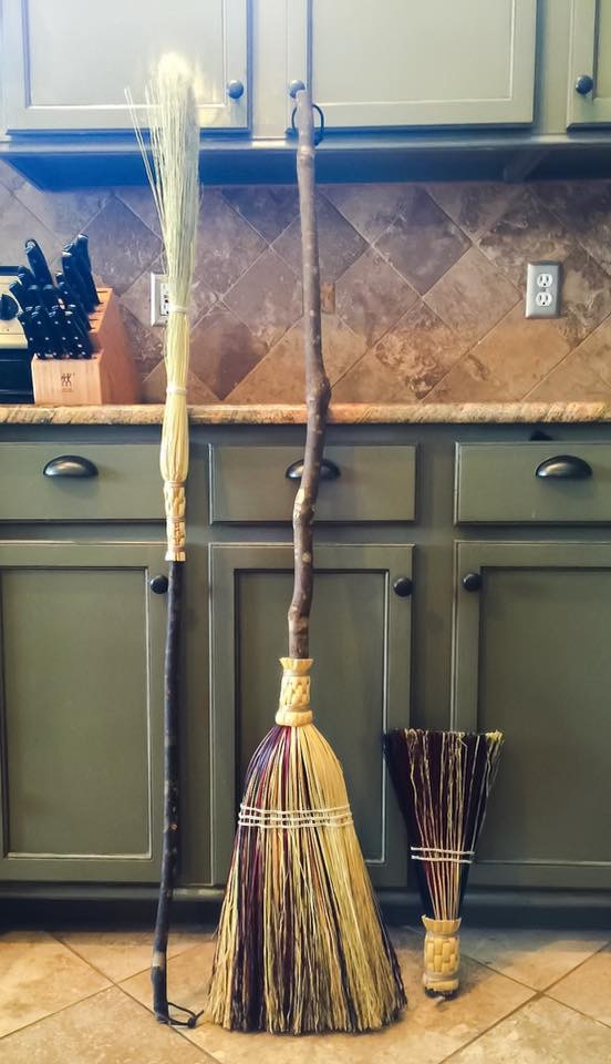 Handmade broom collection.