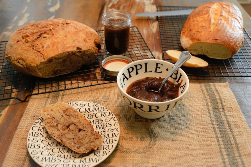 Celebrating fall - harvest and sourdough bread and apple butter
